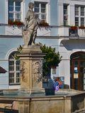 Mikulov girl fountain